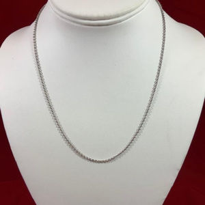 """James Avery Sterling silver 18"""" Light Cable Chain"""